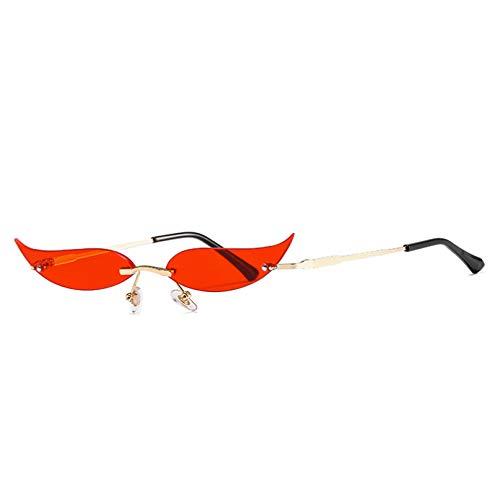 LUOXUEFEI Gafas De Sol Gafas De Sol Mujer Sin Montura Lente Transparente Gafas Hombre Gafas De Sol