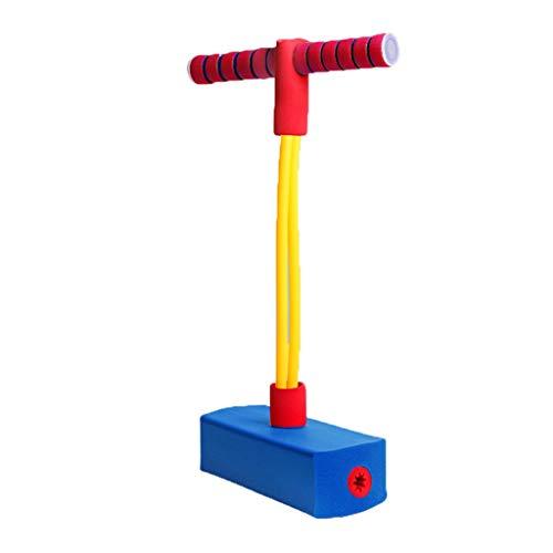 WENJIA Pogo Stick Bungee Jumper Pogo Stick para Niños Childrens Fun Safe Soft Pogo Stick,manijas Cómodas Duradero Y Antideslizante,para Niños Pequeños De 3 Años (Color : Blue 2)