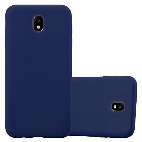 Cadorabo Hülle für Samsung Galaxy J5 2017 in Candy DUNKEL BLAU - Handyhülle aus flexiblem TPU Silikon - Silikonhülle Schutzhülle Ultra Slim Soft Back Cover Case Bumper