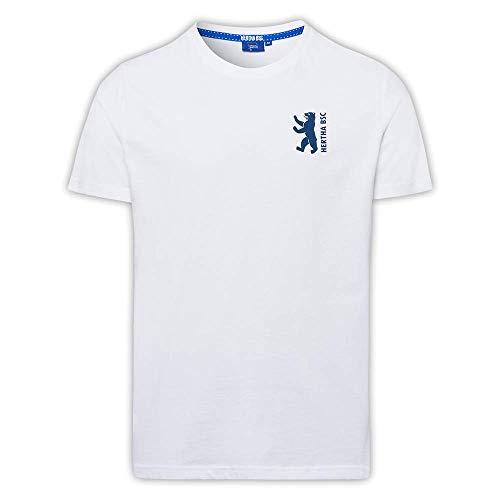 Hertha BSC T-Shirt Bär Tapestreifen weiß (L)