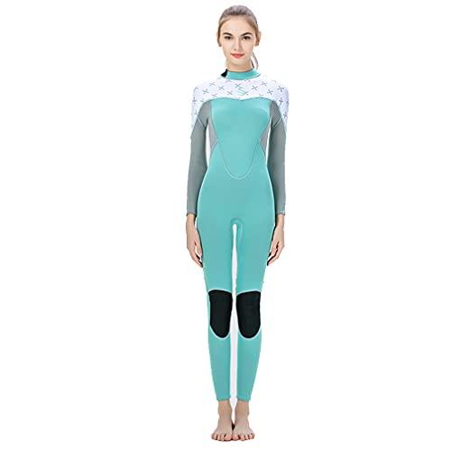 CXQA Mujeres de 2mm de 2 mm, Traje de Neopreno de Manga Larga de Cuerpo Completo, Traje de Buceo de natación Resistente a los Rayos UV para Damas Adultas Que bucean la natación de Buceo,XL