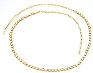 MEENAZ Stylish Traditional Jewellery Gold Kundan Saree Waist Belly Chain/Kamarbandh Kamarband for Women Girls Wedding -Bel...