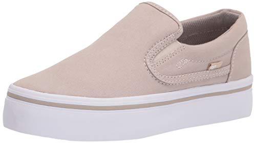DC Women's Trase Slip Platform Skate Shoe, Grey