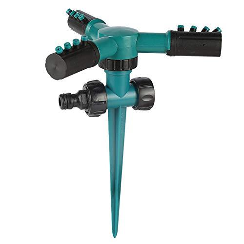 XIONGGG - Césped pulverizador, base del punto sostenible, 3 brazos, pulverizador automático 360 de rotación, ajustable, water Garden Sprinkler