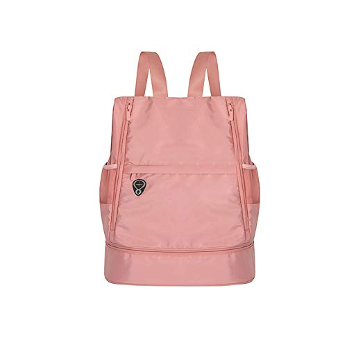 LLQM Mochila de gimnasio, mochila de viaje plegable, bolsa impermeable seca y húmeda y bolsa de almacenamiento de zapatos, bolsa de almacenamiento portátil al aire libre
