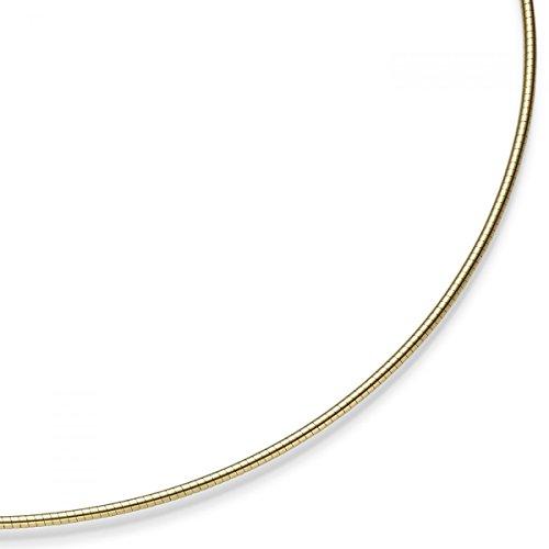 1,5mm Halsreif Omegareif Omegakette Collier 585 Gold Gelbgold 45cm abschraubbar