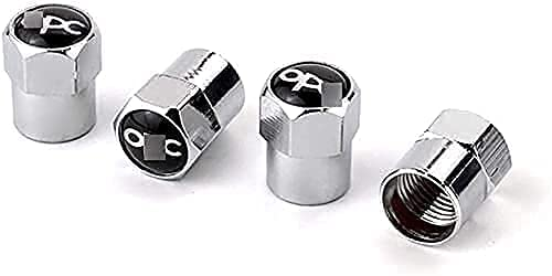 4 Piezas Coche Tapas de Válvula para Opel OPC Astra Zafira Corsa Mokka, Cubiertas Impermeables de Prueba de Polvo Tapones de Válvula de Neumáticos