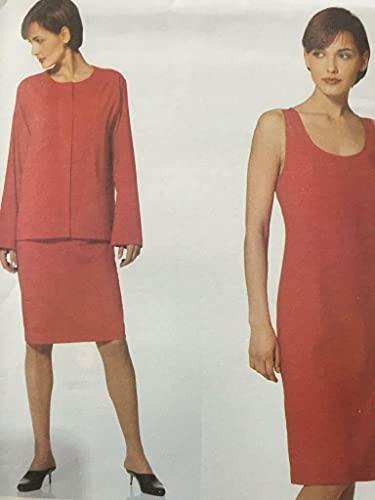 Vogue Patrón de costura 2310 mujer mujer vestido chaqueta talla 18-20-22 Calvin Klein
