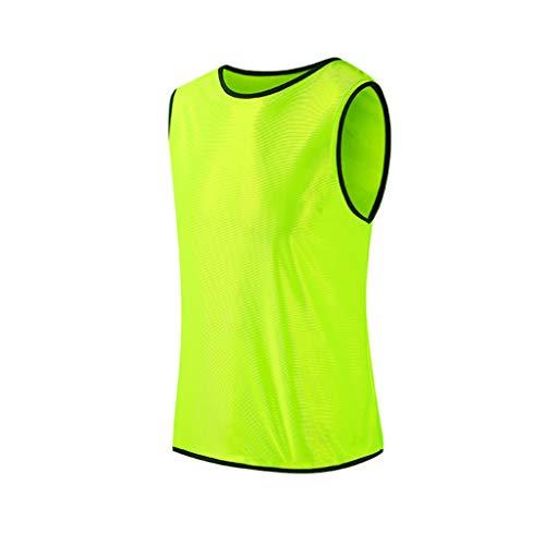 YUEYANG sin mangas de entrenamiento de fútbol equipo chaleco Camisetas de fútbol Camisetas de deportes Adultos Transpirable para hombres mujeres baloncesto agrupación