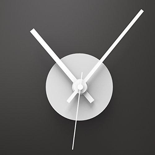 WANDKINGS Wanduhr Solo Clock mit Uhrwerk & Uhrzeigern (Farbe: Uhr=Weiß, Zeiger=Weiß)