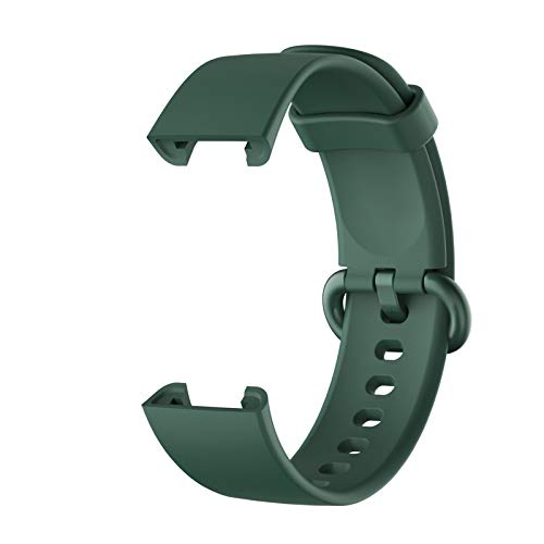 Banda para MI Watch Lite Correa Reemplazo Deporte Pulsera De Silicona Correa para Xiaomi MI Watch Smart Watch Correa Correa De Muñeca (Color : Dark Green)