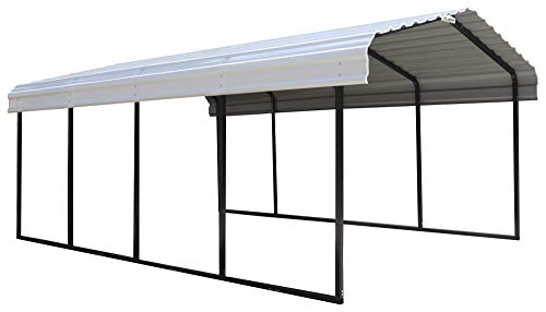 Arrow 12' x 20' x 7' 29-Gauge Carport with Galvanized Steel Roof Panels