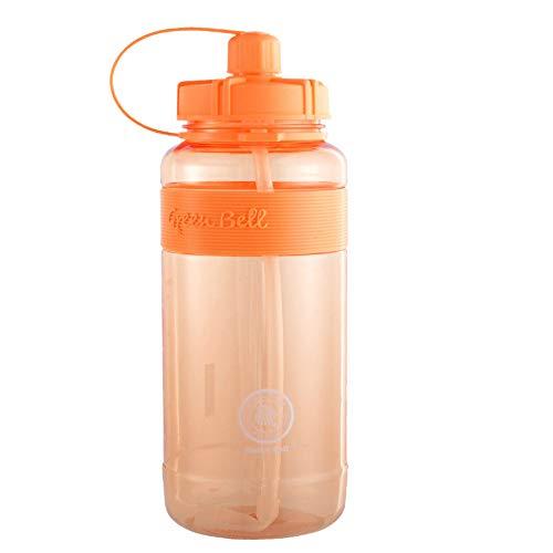 MSNLY Vaso para Beber de Gran Capacidad, Espacio para Paja, Vaso de plástico, 2L, Regalo Transparente, Botella Deportiva Personalizada de Gran Capacidad para Exterior