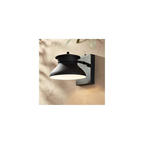 Danbury Modern Contemporary Outdoor Wall Light Fixture LED Black 6