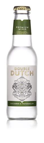Double Dutch Tonic Water mit Gurken & Wassermelonenaroma  100% natürliche Zutaten   Mixer Cocktails   Ohne künstliche Farb, Konservierungs oder Geschmacksstoffe – 200 ml - 24 Pack