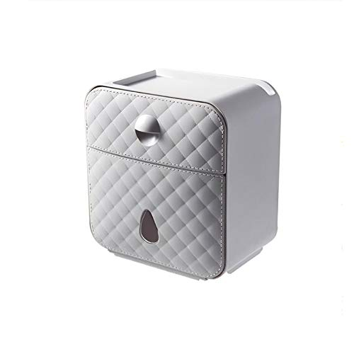 Portarrollos de papel higiénico 3 en 1, caja de papel/estante multifuncional sin puño, para colocar teléfonos móviles, perfume, papel de bombeo, porta papel higiénico