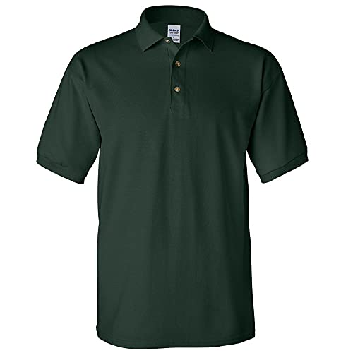 Gildan Mens Ultra Cotton Pique Polo Shirt (L) (Forest Green)