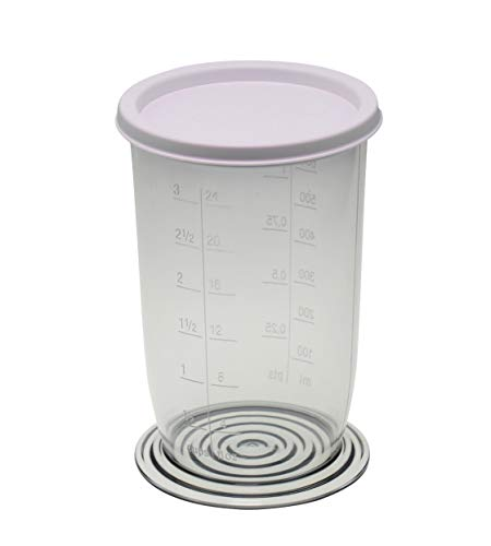 Vaso medidor universal con escala + tapa 21416 (15,5 x 9 cm) 700 ml para batidora de mano