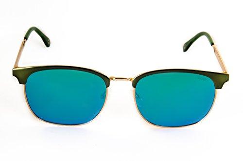 Lois - Melisa GR Green, Gafas de Sol Moda Unisex Metal, Verde/Verde Espejo Polarizada unisex clubmaster polarizado Verde