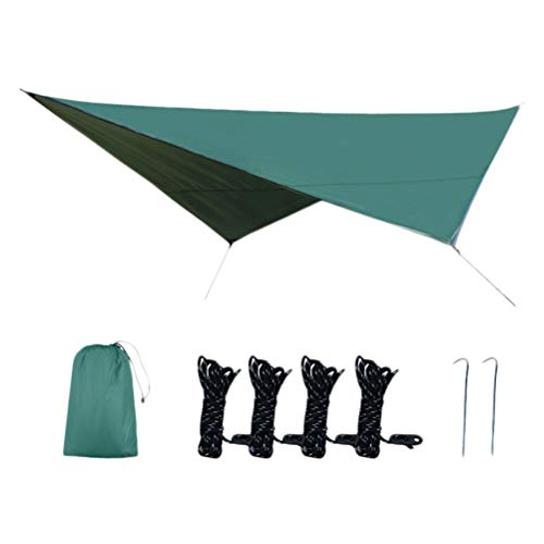 VORCOOL Thickened Sun Shade Sail Waterproof Awning Oxford Cloth Sunblock Canopy UV Protection Tent Awning for Camping Picnic Outdoor Garden Outdoor Sports Props (Green)