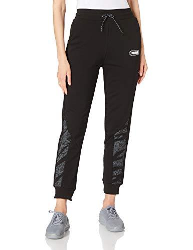 Puma Rebel High Waist Pants TR cl Pantaloni Tuta, Donna, Puma Black-Untamted, L