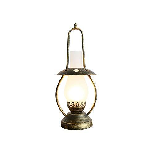 Lámpara de mesa de estudio antigua, lámpara de mesa decorativa junto a la cama del dormitorio, lámpara de mesa retro nostálgica de aceite antiguo