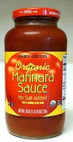 Trader Giatto's Organic Marinara Sauce No Salt Added 26 oz (Case of 2)