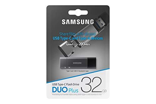 Samsung MUF-32DB/EU DUO Plus 32 GB Typ-C USB 3.1 Flash Drive Gunmetal Gray