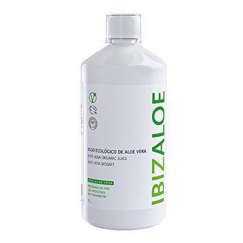 IBIZALOE Jugo Ecológico de Aloe Vera   Zumo Aloe Vera   1L