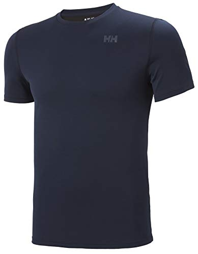Helly Hansen HH LIFA Active Solen Shirt Technique Sun Protection Manches Courtes Homme, Marine, XL
