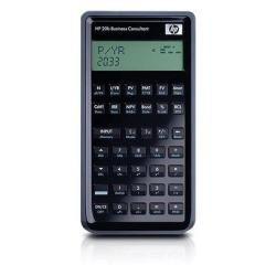 HP 20b Business Consultant - Calculadora (bolsillo, Financiero, Negro, Botones, LCD, Batería)