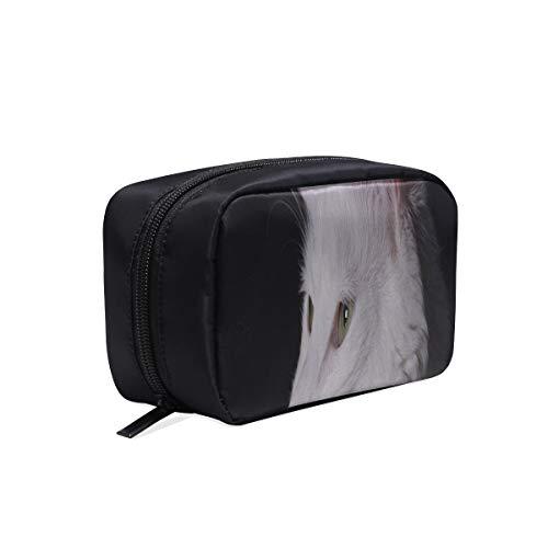 Bolsas Para Cosméticos Gato Angora Gatito Blanco Pura Sangre Mascota Encantadora Bolsa de Viaje Portátil Mujer Diseñador Bolsa Colgante Bolsa de Cosméticos Bolsas de Cosméticos Estuche Multifu