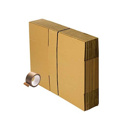 Kit de déménagement 20 cartons standard 56 x 36 x 28 cm + 1 adhésif Offert. Idéale déménagement ou expédition. De la marque FitYo , marron
