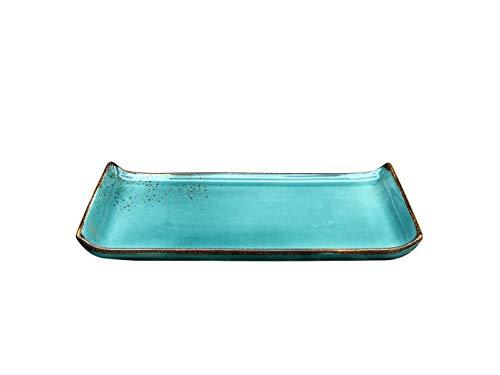 Creatable 20037 BBQ-Platte |Servierplatte | Nature Collection | Steinzeug | Water - Blau| 33 x 16,5 cm