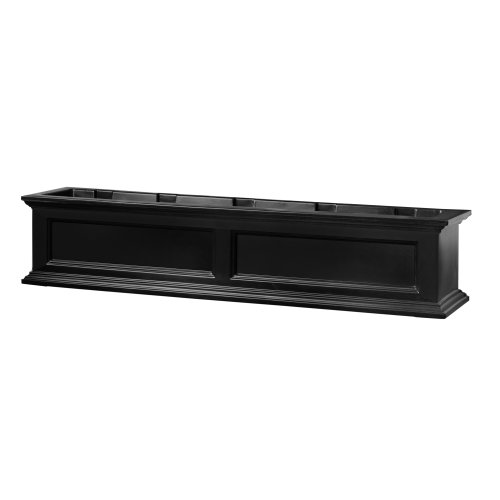 Mayne Fairfield 5824B Window Box Planter, 5-Foot, Black