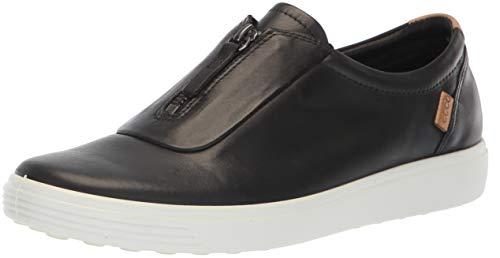 ECCO Women's Soft 7 Zip II Sneaker, Black, 39 M EU (8-8.5 US)