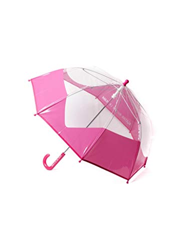 Paraguas Infantil Agatha Ruiz de la Prada Magenta Corazón Transparente