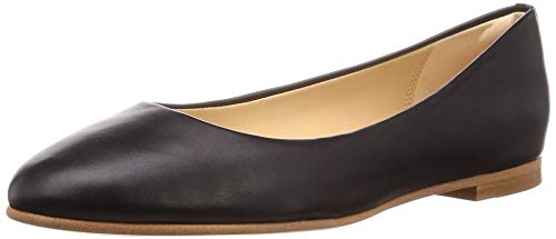 Clarks Damen Grace Piper_Geschlossene Ballerinas, Schwarz (Black Leather), 41 EU