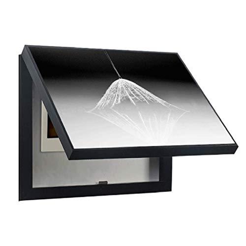 Tcylz Caja de medidor eléctrico novedoso Restaurante de pintura decorativa con cubierta eléctrica Caja de flip cubierta Caja de interruptores Pintura de pared (color: blanco, tamaño: (6050 cm 5040cm))