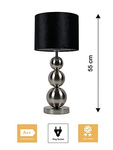 Bazaaronline Tafel Lamp - Tafel Licht - Table Lamp - Bollen Lamp - Eric Kuster Style - Hoogte 55 CM - Ronde Voet - 40W E27 220/240V - Exclusief Lamp (Mat Chroom)