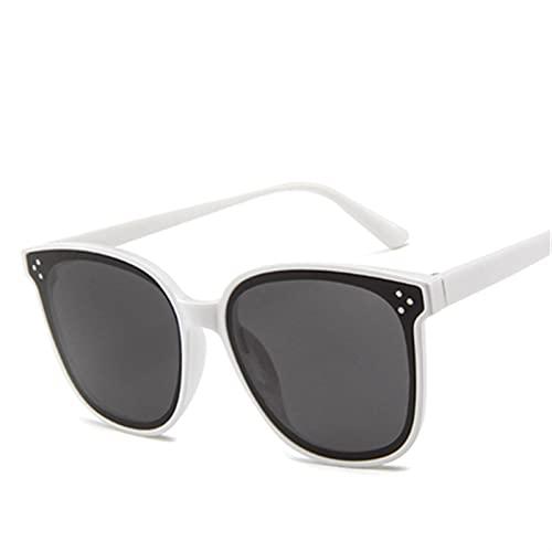 FDNFG Gafas de Sol de Marco de Ojo de Gato Mujeres Que conducen Vintage Redonda de Soles de Gran tamaño UV400 Gafas de Sol (Lenses Color : Gray)