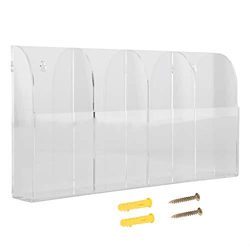 Zetiling Afstandsbediening Doos, Muur gemonteerde Afstandsbediening Houder Clear 4 roosters voor opslag Air Conditioner TV Afstandsbediening