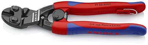 KNIPEX Tools - CoBolt Compact Bolt Cutter Multi-Component, Tethered Attachment, 20 Degree Angled (7122200TBKA)
