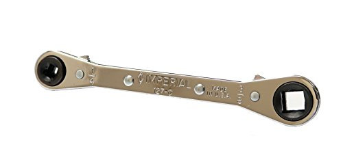 """Imperial Tool 127C Ratchet Wrench for Refrigeration and Air Conditioning, 1/4"""", 3/8"""", 3/16"""" and 5/16"""""""