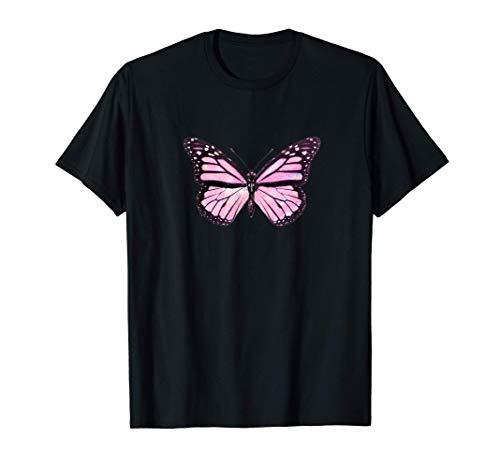 Butterfly Pink Soft Aesthetic Emoji Cute Pink Butterflies Camiseta