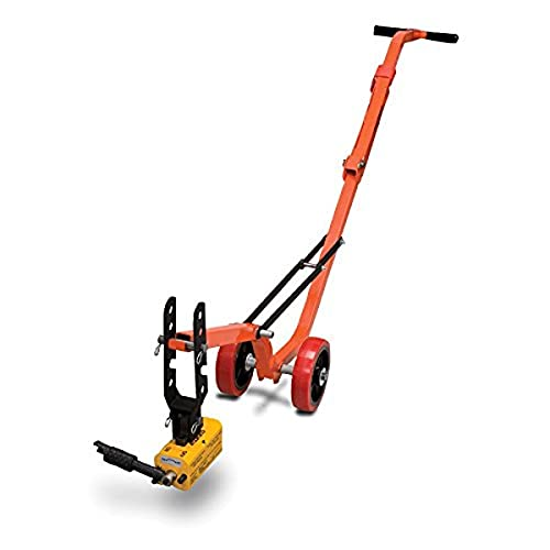 Allegro Industries 9401‐25 Magnetic Lid Lifter, Steel Dolly, Magnet Lift, Weight 660 lb Flat Items, 330 lb Round Items