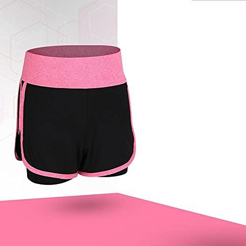 bayrick Leggins Deportivos Mujer Cintura Alta,Pantalones Cortos Ajustados de Yoga Falso de Dos Piezas Velocidad Seca Seca Cintura Alta Ropa Casual pantalones-15_XXXL