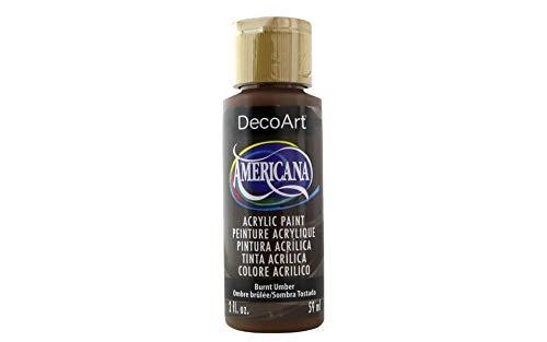 Artdeco Americana Acrylic Paint 2oz-Burnt Umber - Opaque