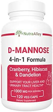 D Mannose 1000mg Capsules with Cranberry Hibiscus Dandelion Supplements for UTI Relief and Urinary product image