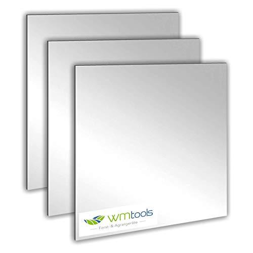 w-mtools Spiegelfliesen selbstklebend 15x15cm 4 Stück Dekorative Wandspiegel Spiegelkacheln Fliesenspiegel Spiegel zum Kleben - Deko Spiegel für Küche, Bad, Wohnzimmer, Schränke Spiegel Wandspiegel